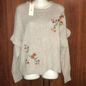 NWT Woven Heart Sweater